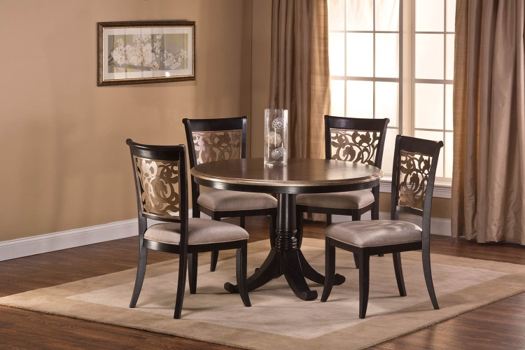 Bennington Dining Set - Black Distressed Gray