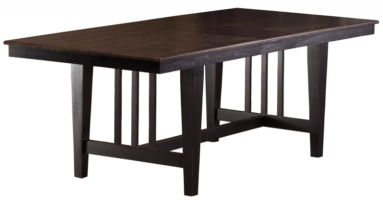 Copeland Trestle Dining Table - Distressed Black