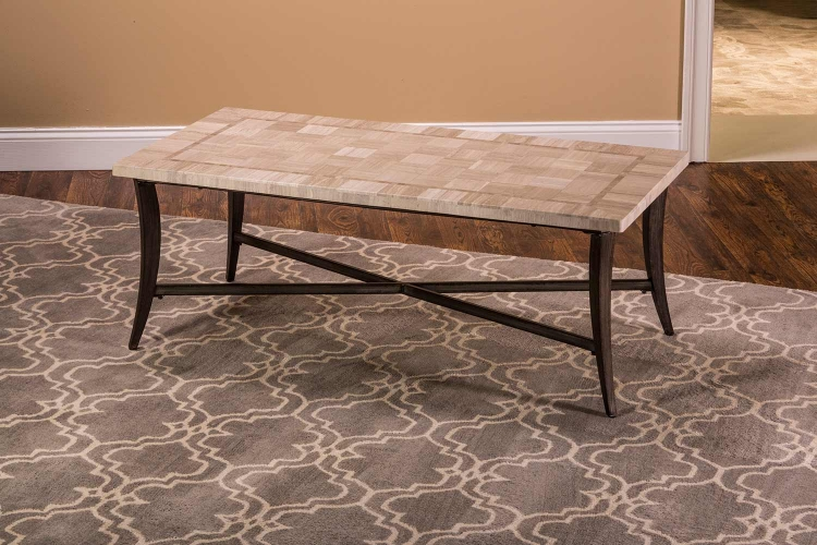 Chancey Rectangle Coffee Table - Charcoal Gray Metal