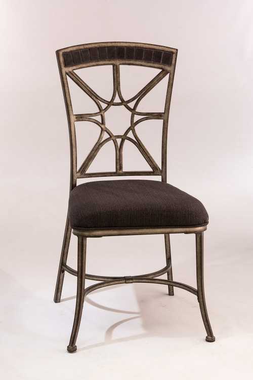 Chandler Dining Chair - Black Pewter/Blue Stone Top