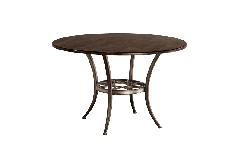 Chandler Round Dining Table - Black Pewter/Blue Stone Top