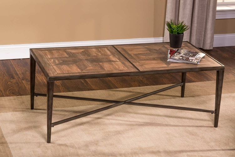 Owen Coffee Table - Pewter/Floor Tile
