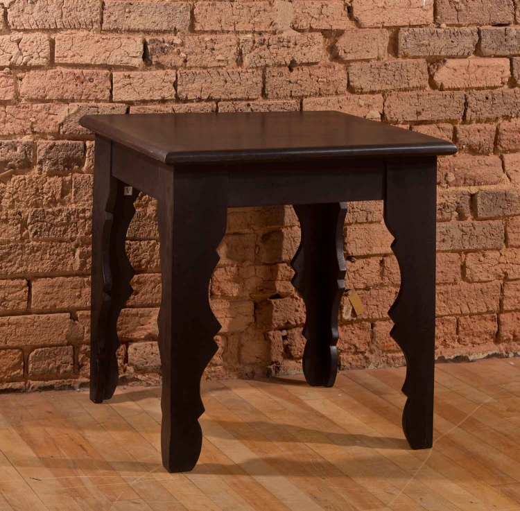 Keegan End Table - Distressed Black