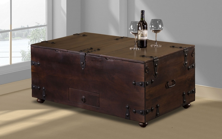 Medford Coffee Table Bar - Brown