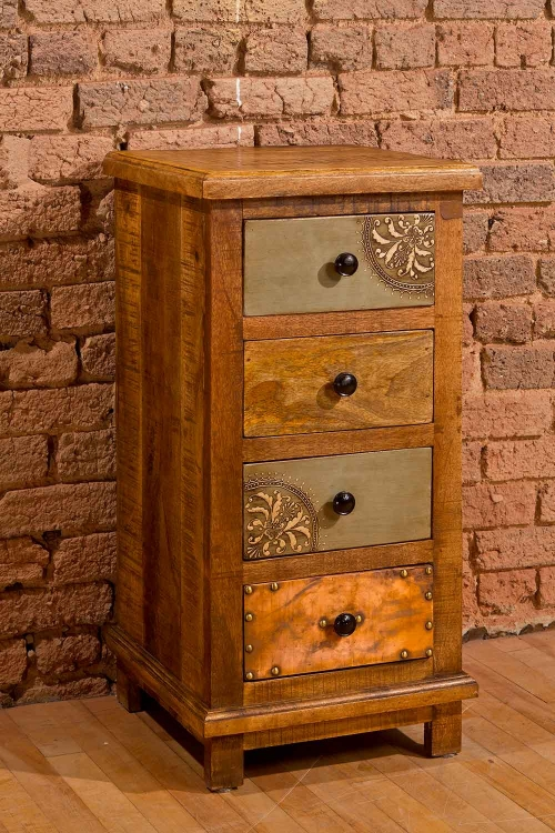 Belina Four Drawer Cabinet - Deep Pine