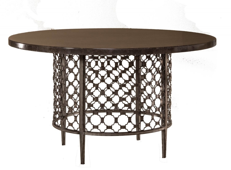 Brescello Round Dining Table - Charcoal/Blue Stone