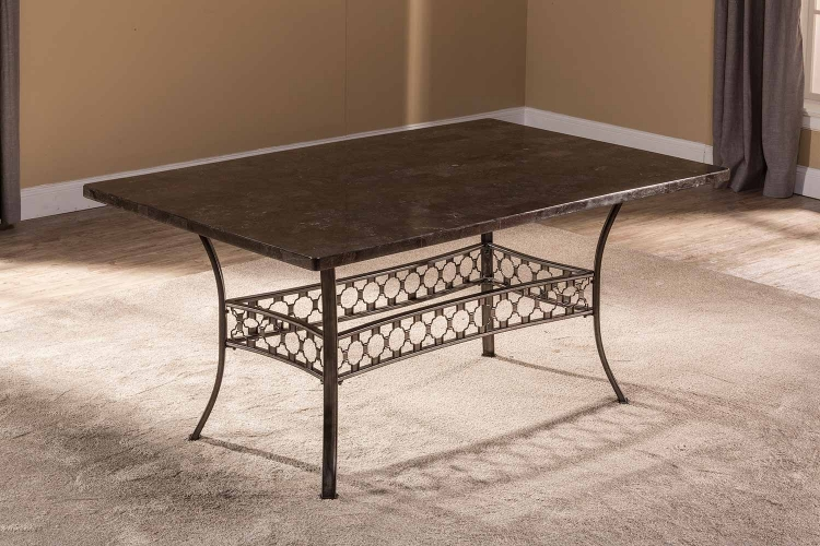 Brescello Rectangle Dining Table - Charcoal/Blue Stone