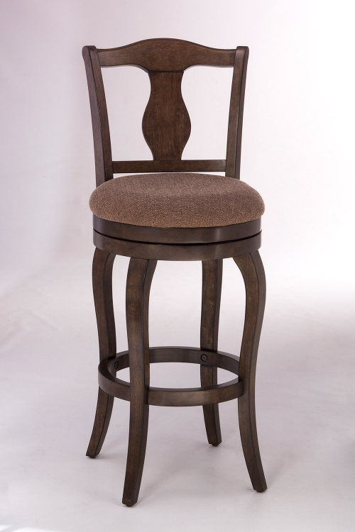 Harlington Swivel Counter Stool - Weathered Chestnut