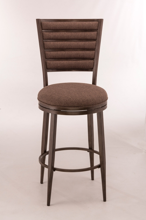 Rouen Swivel Counter Stool - Gray