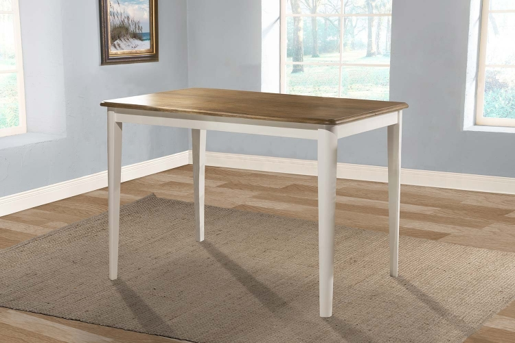 Bayberry Counter Height Extension Dining Table - White/Driftwood