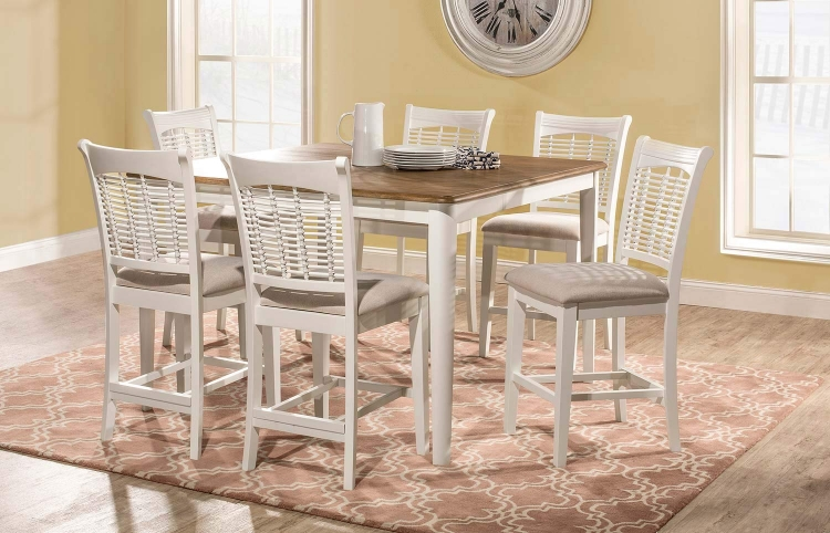 Bayberry 7-Piece Counter Height Dining Set - White/Driftwood