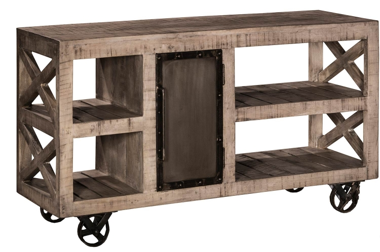 Bridgewater Trolly with Wheels - Black Wood/Zinc Metal