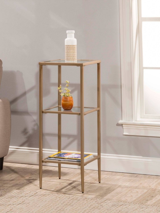 Harlan Stand with 3-Shelves - Gold