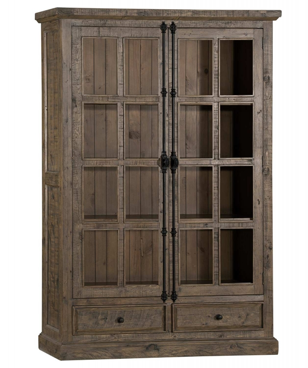 Tuscan Retreat Double Door Cabinet - Aged Gray