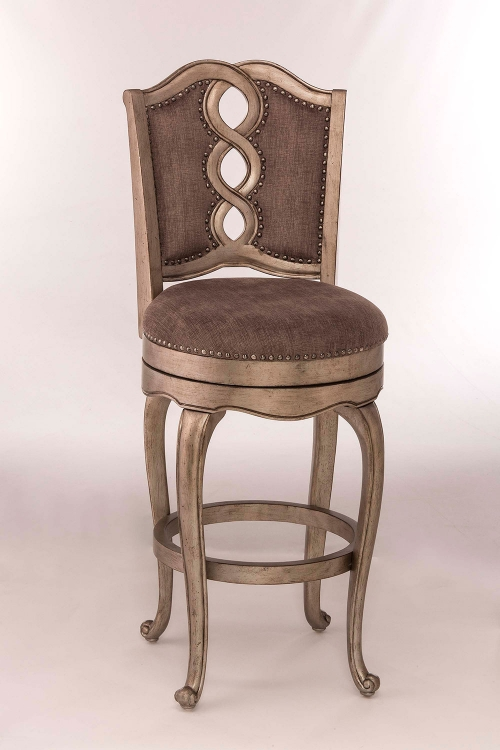Lake Side Swivel Counter Stool - Aged Silver