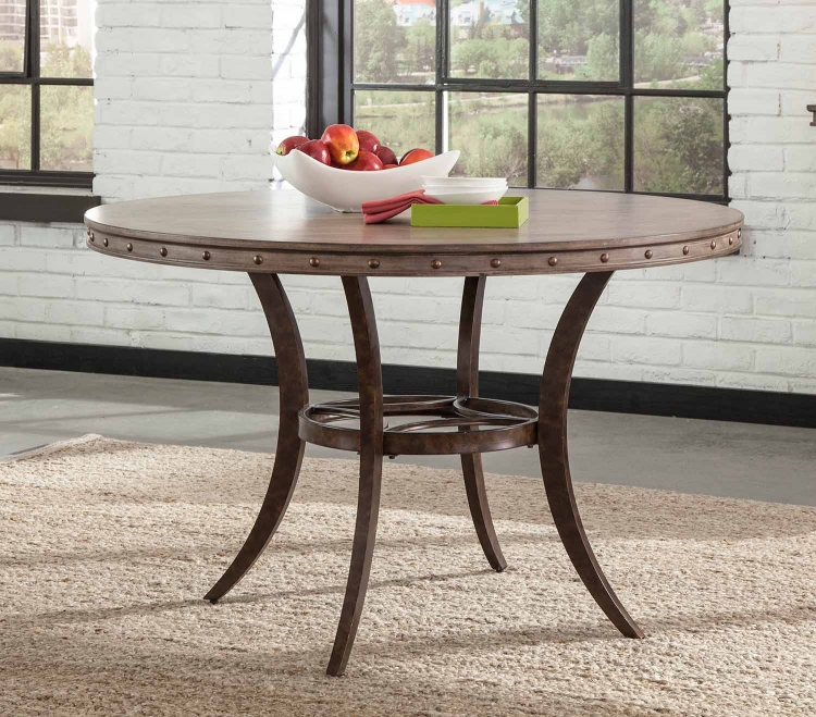 Emmons Round Dining Table - Washed Gray