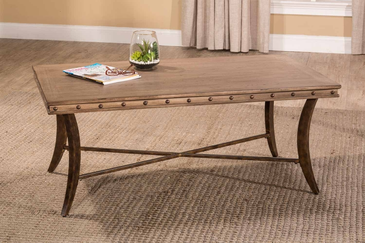 Emmons Coffee Table - Washed Gray