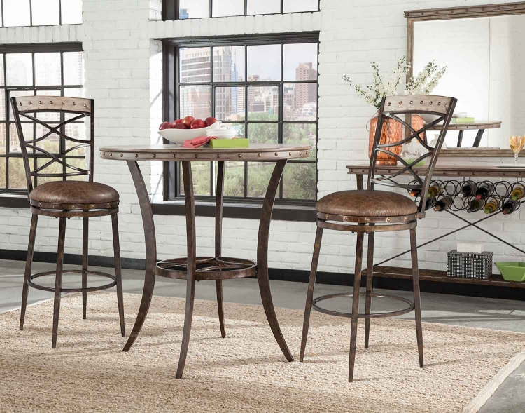 Emmons 3-Piece Bar Height Bistro Dining Set - Washed Gray