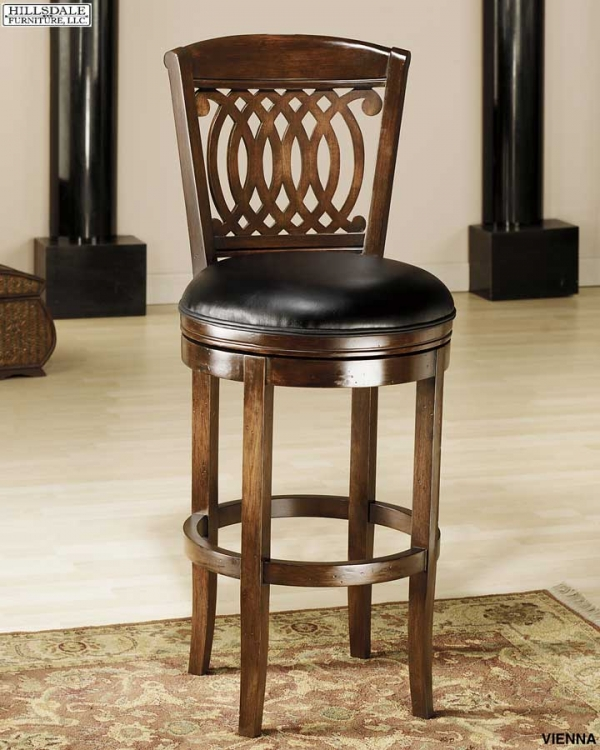 Vienna Swivel Wood Counter Stool