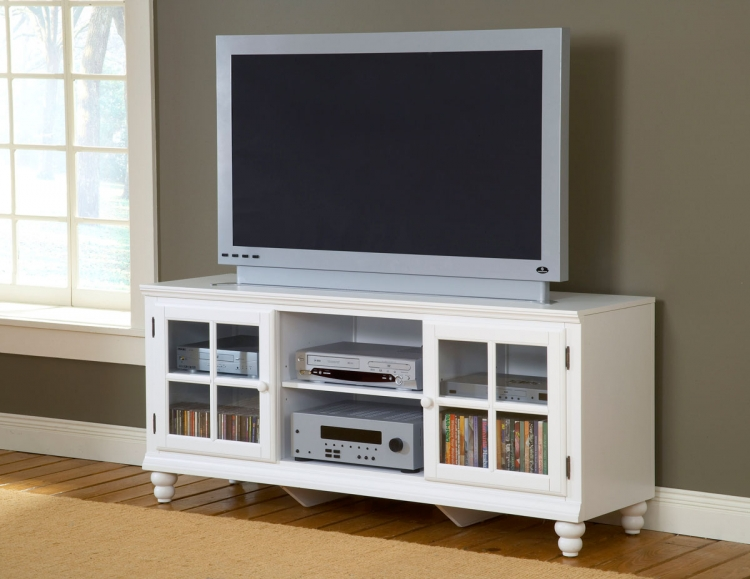Grand Bay 61in Entertainment Console - White - Hillsdale