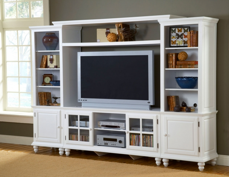 Grand Bay Large Entertainment Wall Unit - White - Hillsdale