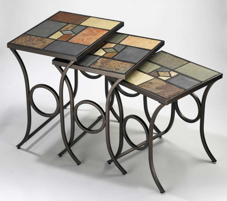 Pompei Nesting Tables - Set Of 3 - Hillsdale