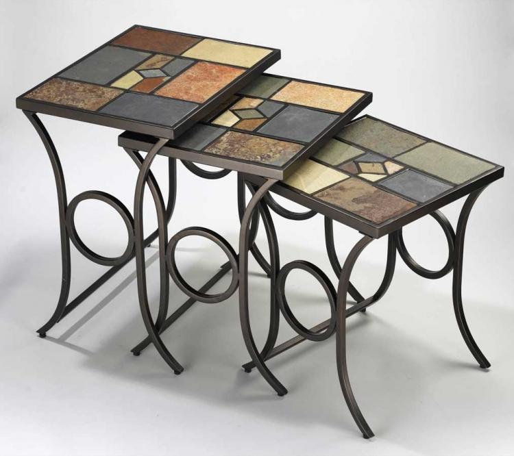 Pompei Nesting Tables - Set Of 3