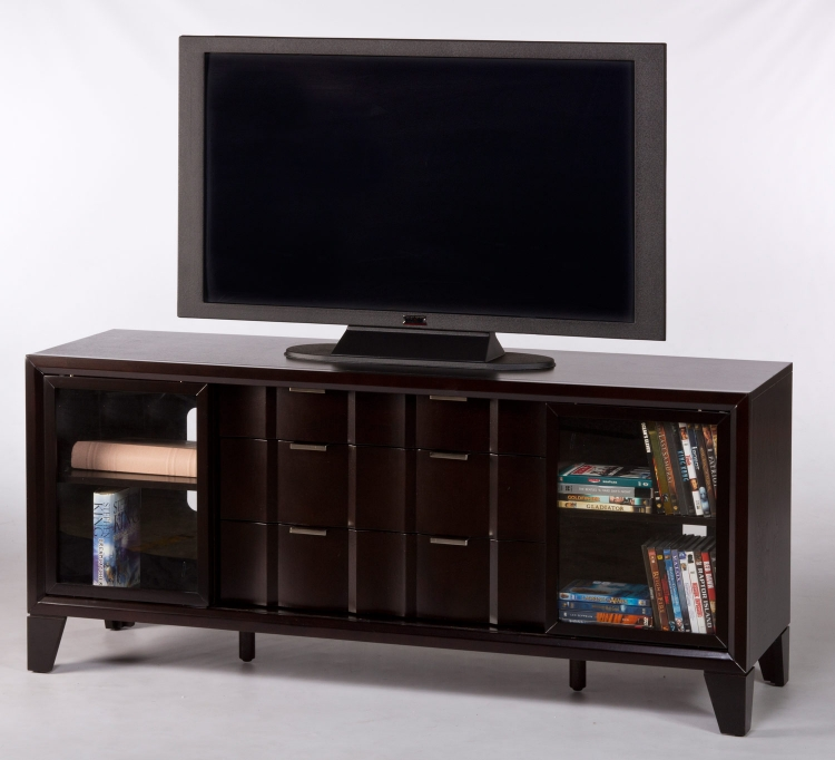Sanford TV Console - Chocolate - Hillsdale