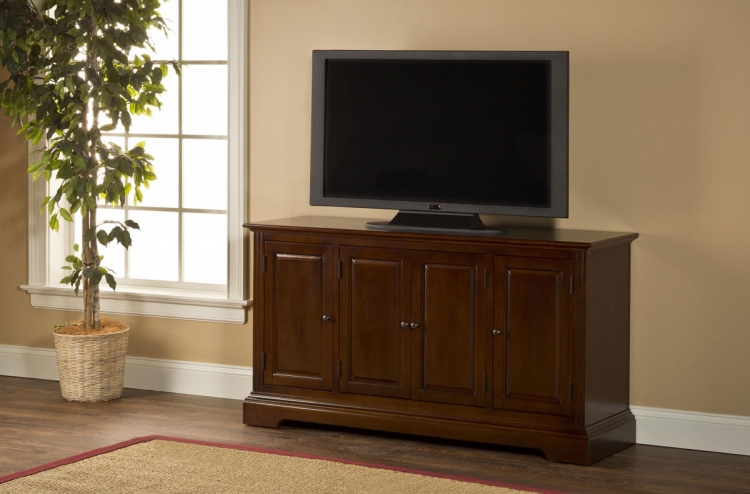 Maison Four Door Entertainment Console - Cherry - Hillsdale