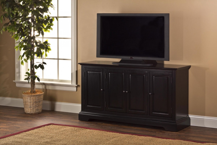 Maison Four Door Entertainment Console - Black - Hillsdale