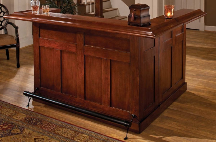 Classic Cherry Large Bar with Side - Hillsdale