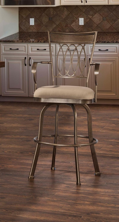 Delk Indoor/Outdoor Swivel Counter Stool - Gold Bronze