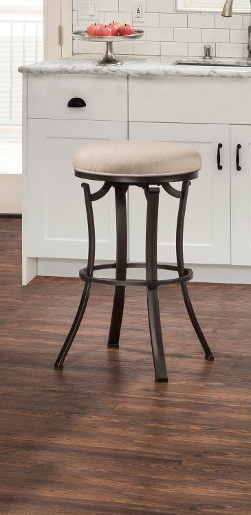 Bryce Indoor/Outdoor Backless Swivel Bar Stool - Midnight Mocha