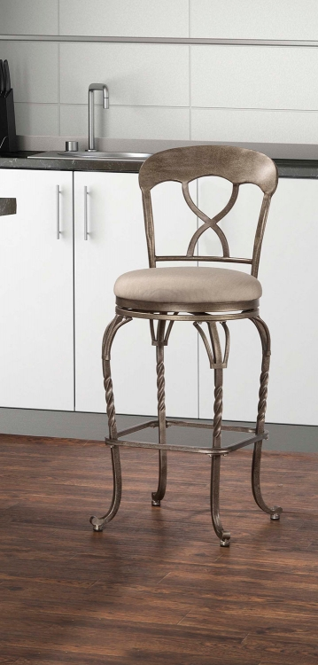 Glendover Indoor/Outdoor Swivel Counter Stool