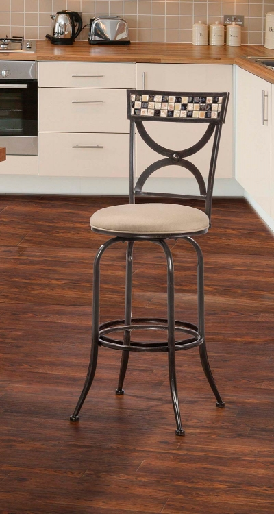 Healy Indoor/Outdoor Swivel Counter Stool - Antique Black