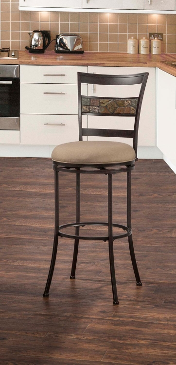 Henning Indoor/Outdoor Swivel Counter Stool - Midnight Mocha