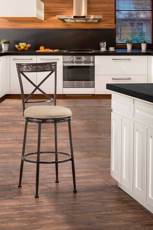 Pullman Indoor/Outdoor Swivel Counter Stool - Satin Beige