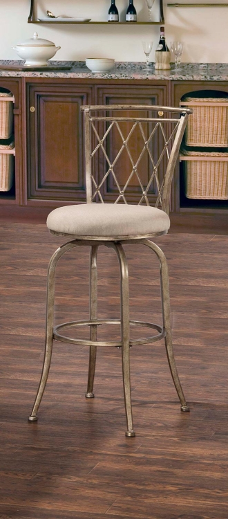 Berkley Indoor/Outdoor Swivel Bar Stool - Champagne
