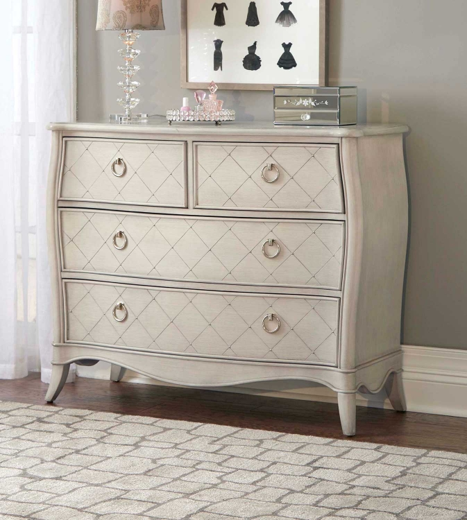 Angela 4 Drawer Chest - Opal Grey