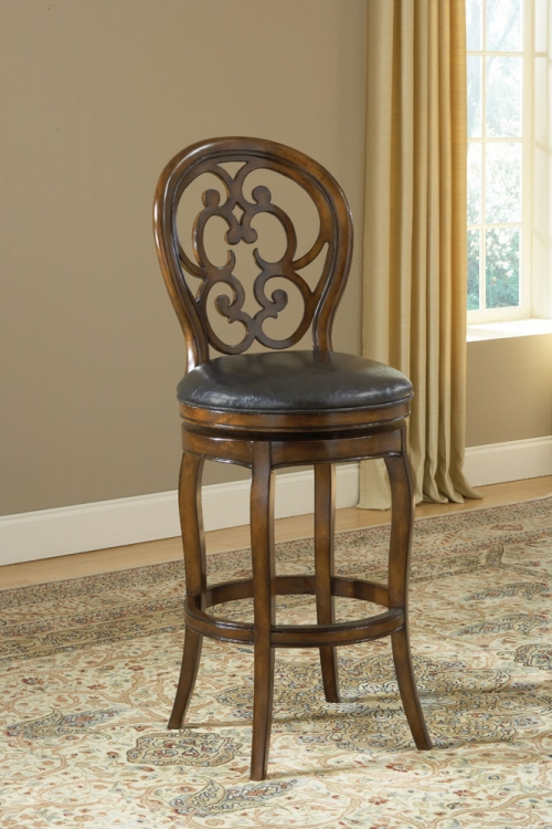Alexandra Swivel Counter Stool - Dark Tobacco - Hillsdale
