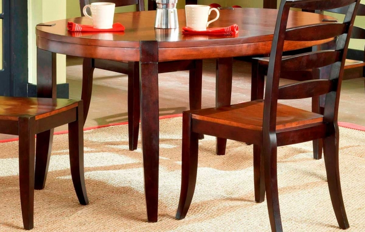 Casa Blanca Wood Oval Dining Table With Leaf