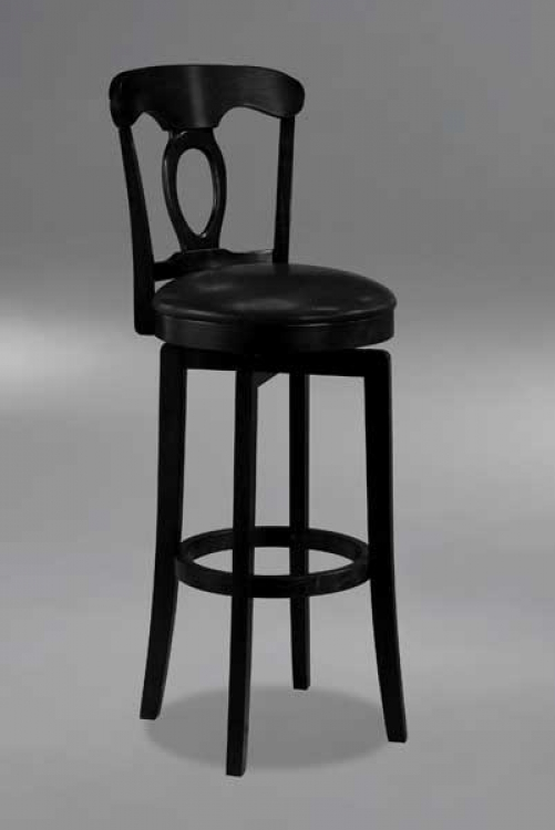 Corsica Swivel Bar Stool in Black - Hillsdale