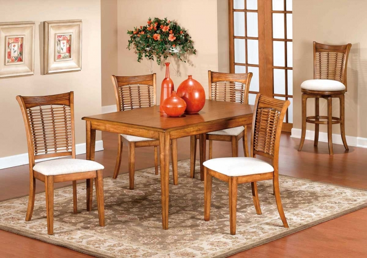 Bayberry Rectangular Dining Collection - Oak - Hillsdale