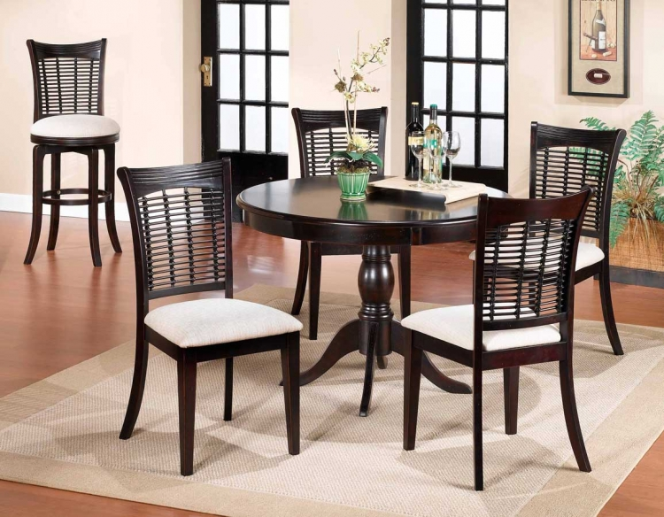 Bayberry Round Dining Collection - Dark Cherry - Hillsdale