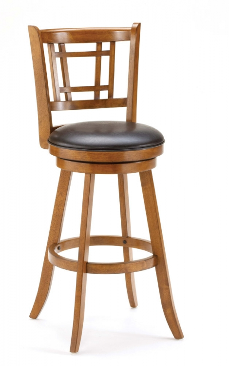 Fairfox Swivel Bar Stool - Oak - Hillsdale