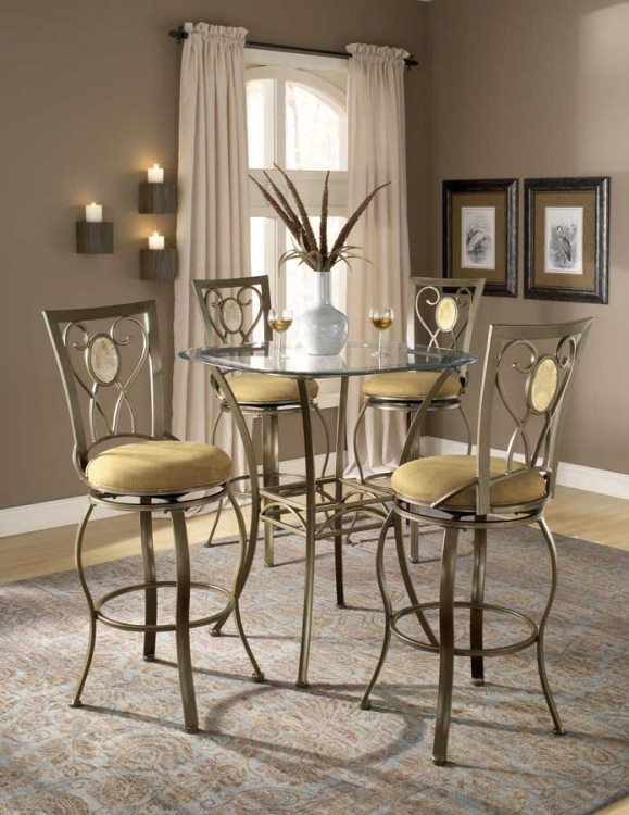 Brookside Bar Height Bistro Dining Collection Oval Back - Hillsdale