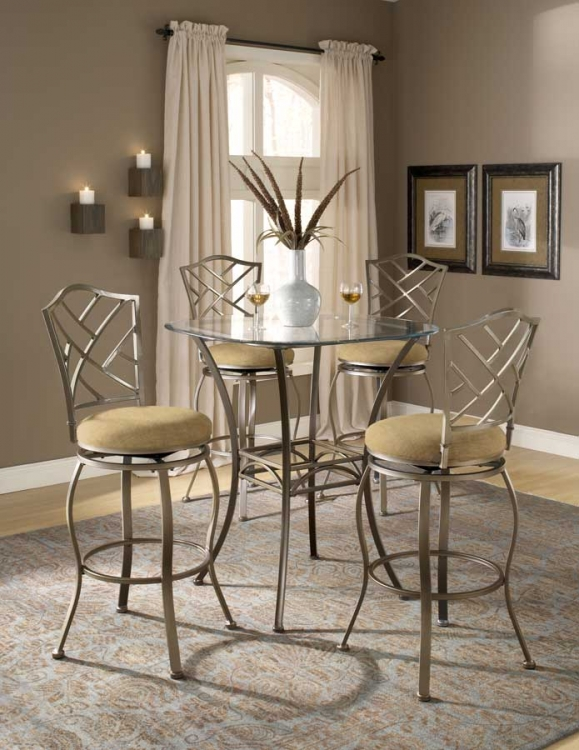 Brookside Bar Height Bistro Dining Collection Hanover
