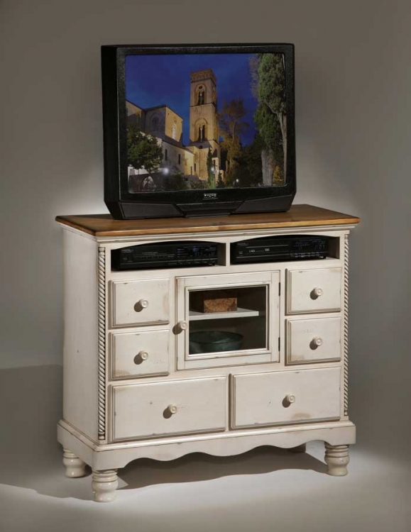 Willshire TV Chest - Antique White - Hillsdale
