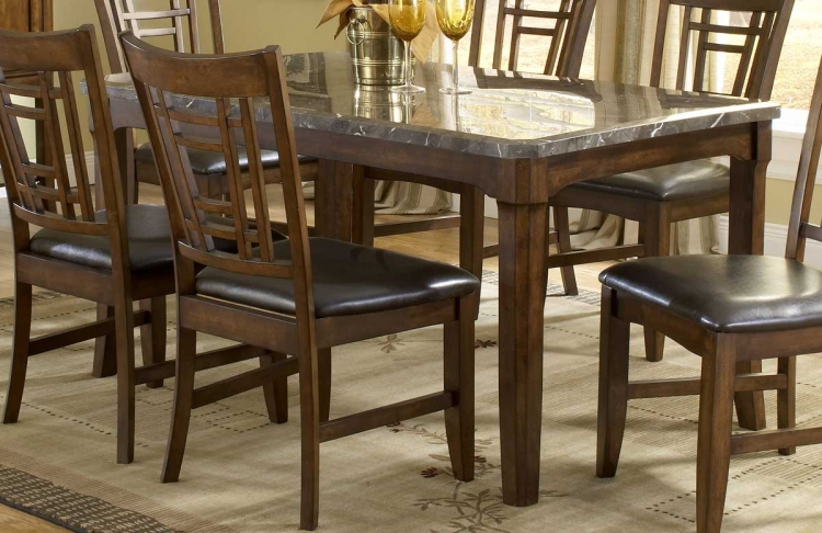Patterson Rectangle Marble Top Dining Table