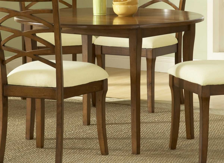 Tailored Collection Round Drop Leaf Dining Table